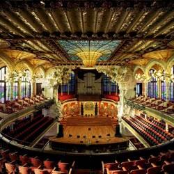 Пазл онлайн: Дворец каталонской музыки (Palau de la Musica Catalana), Барселона, Испания