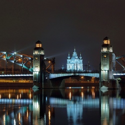 Пазл онлайн: Большеохтинский мост. Санкт-Петербург