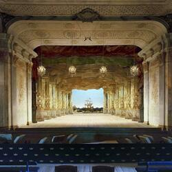 Пазл онлайн: Оперный театр Дроттнингхольм (Drottningholm Palace Theatre), Стокгольм, Швеция