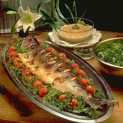 Пазл онлайн: Запеченный лосось