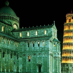 Пазл онлайн: Падающая башня. Пиза. Италия
