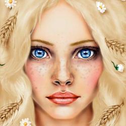 Пазл онлайн: Девушка-лето