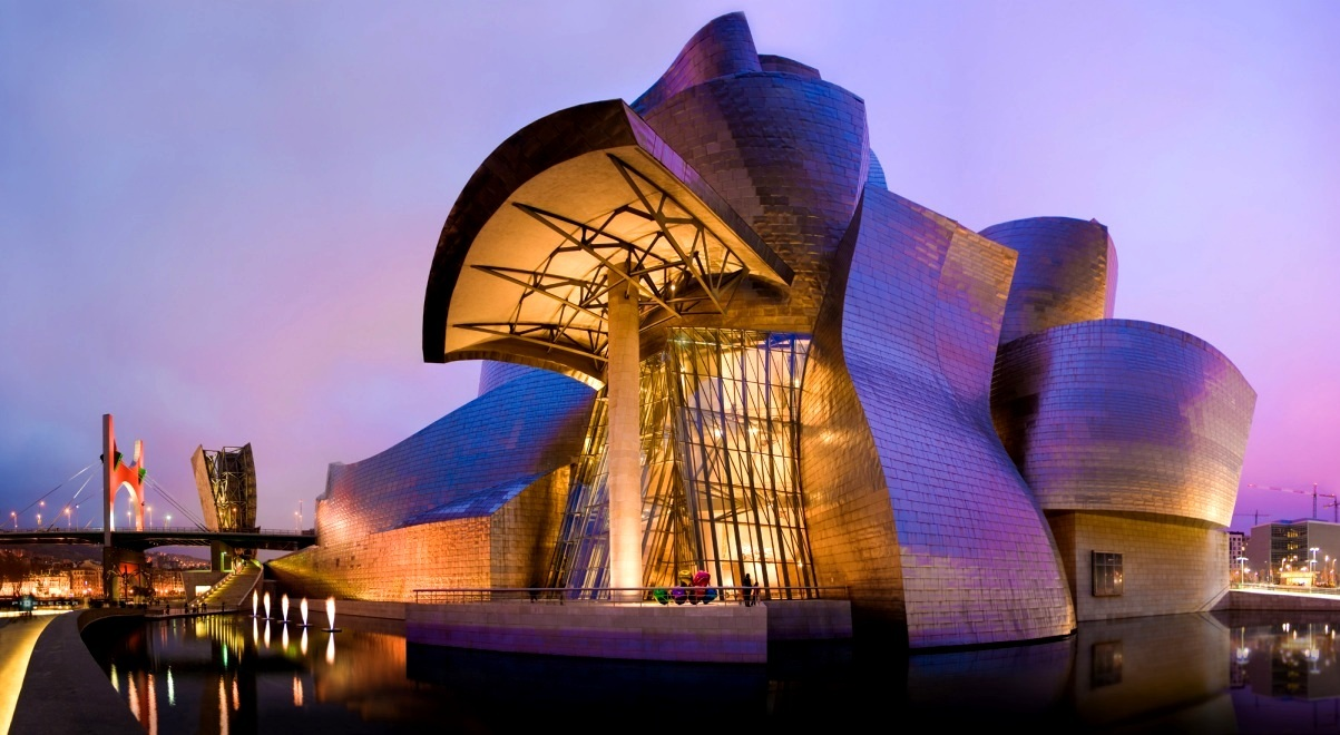 guggenheim museum bilbao Guggenheim museum bilbao the guggenheim museum bilbao is an art museum located in bilbao, spain, that was designed by the famous modernist architect frank gehry it is one of the most widely celebrated examples of modern architectural design.