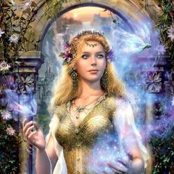 Пазл онлайн: Mysterious Beauty / Таинственная красота