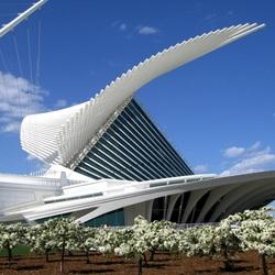 Пазл онлайн: Музей искусства Милуоки, Милуоки, США