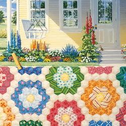 Пазл онлайн: Бабушкин цветущий сад
