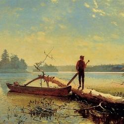 Пазл онлайн: На озере Адирондак