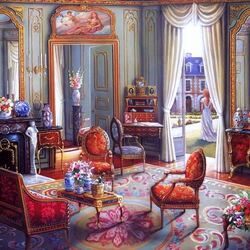 Пазл онлайн: Викторианская гостиная