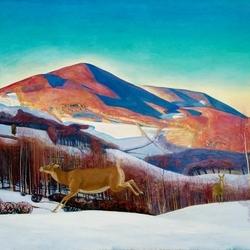 Пазл онлайн: Гора Equinox зимой