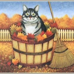 Пазл онлайн: Осенняя уборка