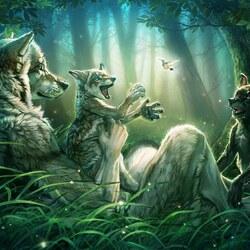 Пазл онлайн: Семья веровольфов