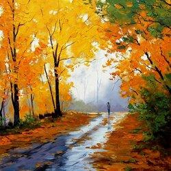 Пазл онлайн: Осенний блюз