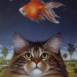 Пазл онлайн: Кошачья мечта