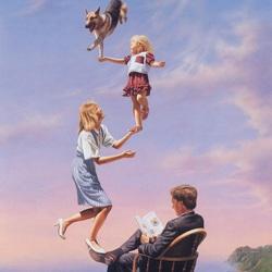 Пазл онлайн: Семейная лестница