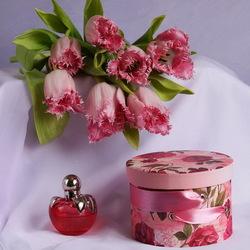 Пазл онлайн: Оттенки розового