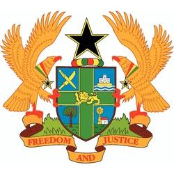 Пазл онлайн: Герб Республики Гана