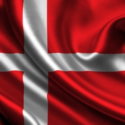 Пазл онлайн: Флаг Дании