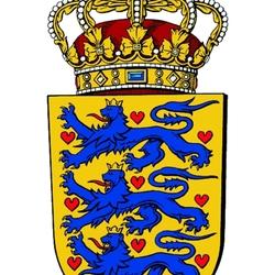 Пазл онлайн: Герб Дании