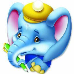 Пазл онлайн: Слоненок