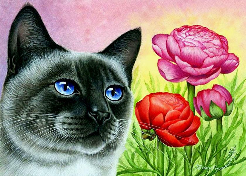 открытки с котами гармашовой серебряные
