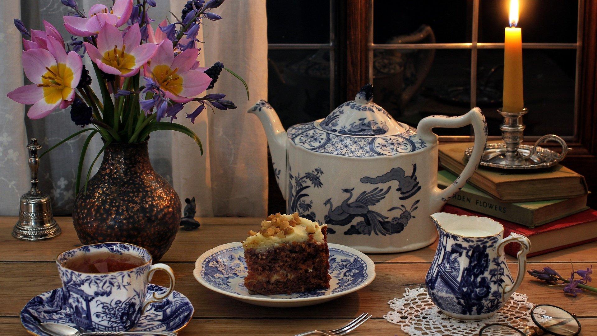 открытки с вечерним чаем