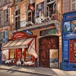 Пазл онлайн: Парижский ресторанчик