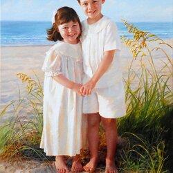 Пазл онлайн: Брат и сестра