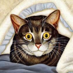 Пазл онлайн: Под одеялом
