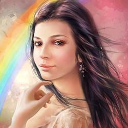 Пазл онлайн: У радуги