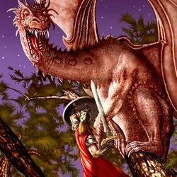 Пазл онлайн: Воин и дракон