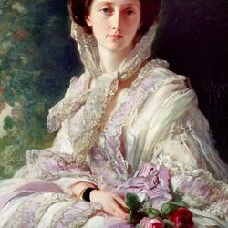 Пазл онлайн: Портрет великой княгини Ольги Николаевны, королевы Вюртембергской