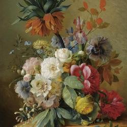 Пазл онлайн: Цветы на выступе