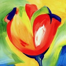 Пазл онлайн: Тюльпан