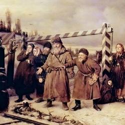 Пазл онлайн: Сцена у железной дороги