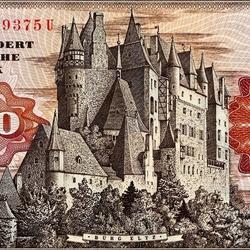 Пазл онлайн: Замок Эльц на денежной купюре