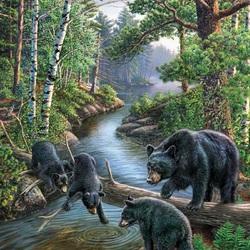 Пазл онлайн: Медвежья рыбалка
