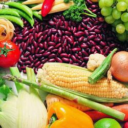 Пазл онлайн: Фасоль и овощи