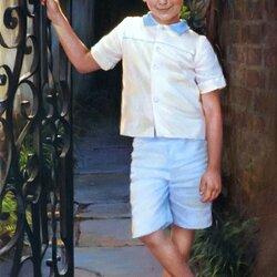 Пазл онлайн: Босоногий мальчик