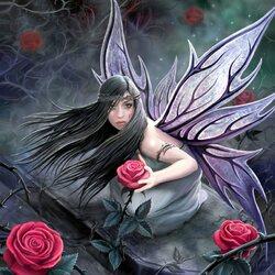 Пазл онлайн: Фея розы