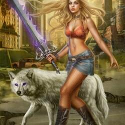 Пазл онлайн: Меч волка