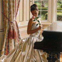 Пазл онлайн: У рояля