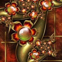 Пазл онлайн: Каменные цветы