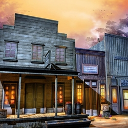 Пазл онлайн: Маленький городок
