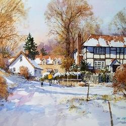 Пазл онлайн: Зима в Шропшоре, Англия