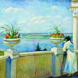 Пазл онлайн: Вид с балкона