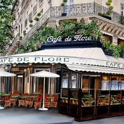 Пазл онлайн: Парижское кафе