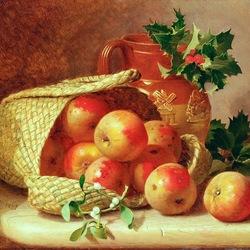 Пазл онлайн: Зимние яблоки