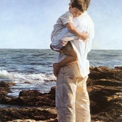 Пазл онлайн: Отец и сын