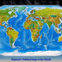 Пазл онлайн: Политическая карта мира