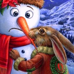 Пазл онлайн: Храбрый заяц